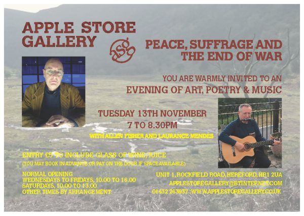 Apple Store Gallery Peace Suffrage and the End of War Nov 2018